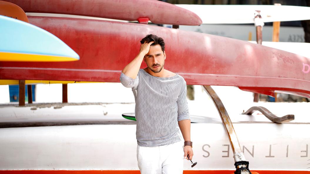 Julio Rocha posa para o EGO mostrando a moda masculina para o verão