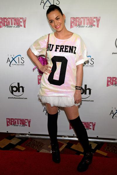 Katy Perry em show de Britney Spears em Las Vegas, nos Estados Unidos