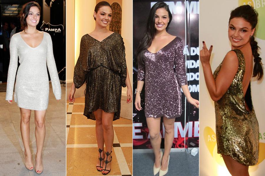 Quando a festa pede, Isis Valverde aposta em modelos com brilhos e supersexy