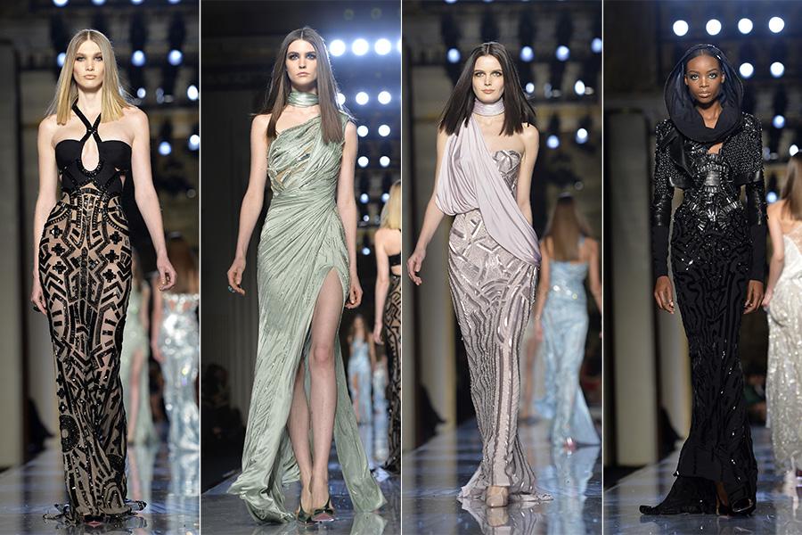 Na passarela da Atelier Versace, que desfilou no domingo, 19, o que se viu foi o clássico: looks sensuais e nada discretos