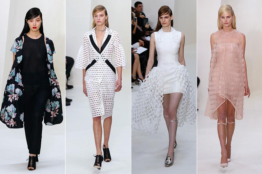 Em contraponto, a Christian Dior apresentou um romantismo delicado, cheio de peças trabalhadas