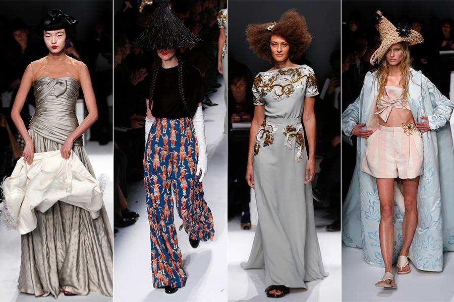 De longos bordados a calças estampas e shortinhos combinados com robe, a coleção da marca se mostrou eclética