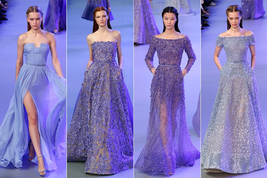 Queridinho das famosas, Elie Saab manteve a mesma fórmula: vestidos no estilo princesa, fluidos ou cheios de bordados