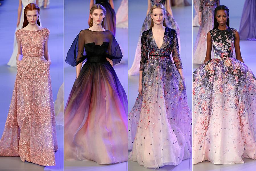 Na cartela de cores, rosas, lilás e toques de preto, que deram mais dramaticidade a alguns modelos