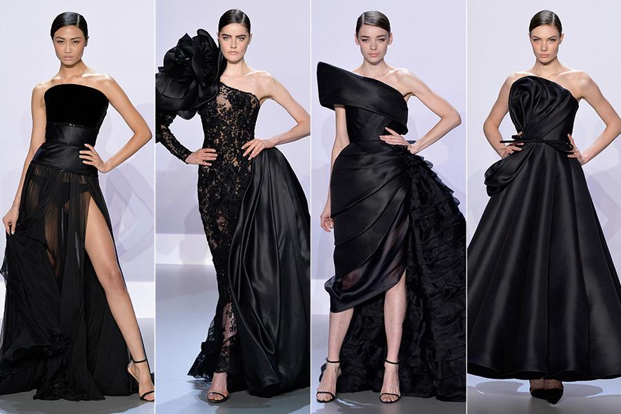 Para arrasar nos eventos de gala, a dupla também mostrou versões nada básicos dos clássicos vestidos pretos