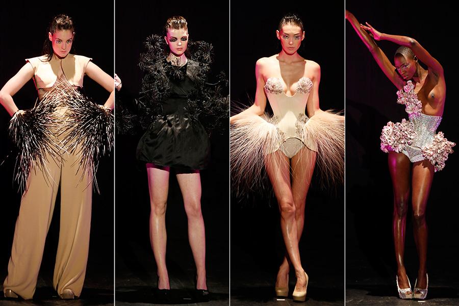 O último dia da semana de alta-costura foi aberto pelo designer Serkan Cura, que se inspirou no universo do balé para trazer uma coleção com uma pegada mais sombria e exótica