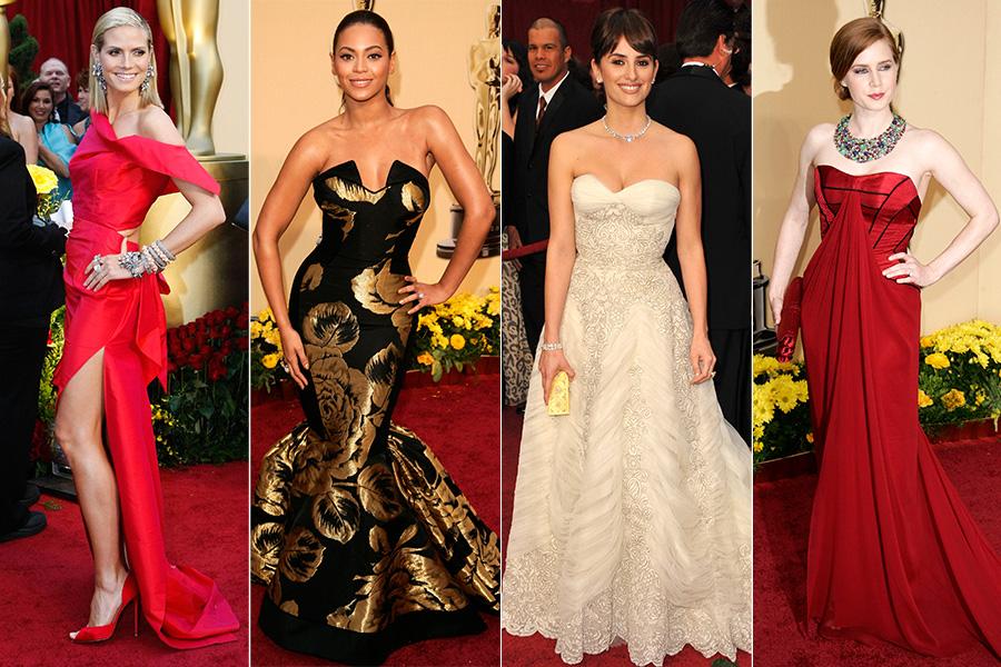 Em 2009, Heidi Klum, Beyoncé, Penélope Cruz e Amy Adams optaram por vestidos com decotes ousados para o tapete vermelho da premiação