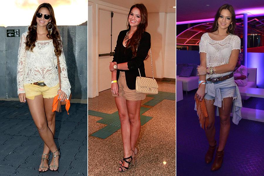 Bruna Marquezine adora usar um shortinho nas suas produções fashions. Seja com blazer, botinha ou até de rasteirinha, a peça sempre vai bem