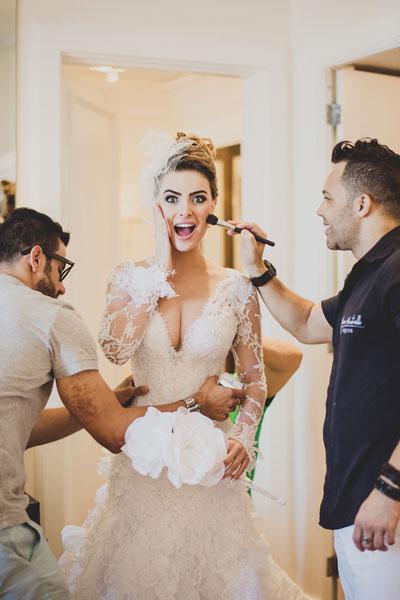 Rayanne Morais vestida de noiva para casamento com Latino