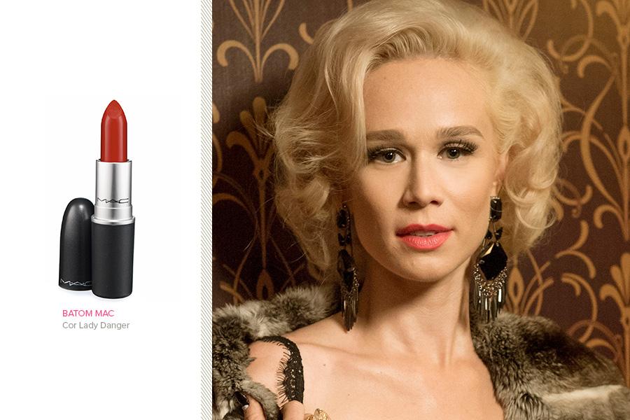 """O batom da personagem Aurora (Mariana Ximenes), de """"Joia rara"""", é o Lady Danger, da MAC"""
