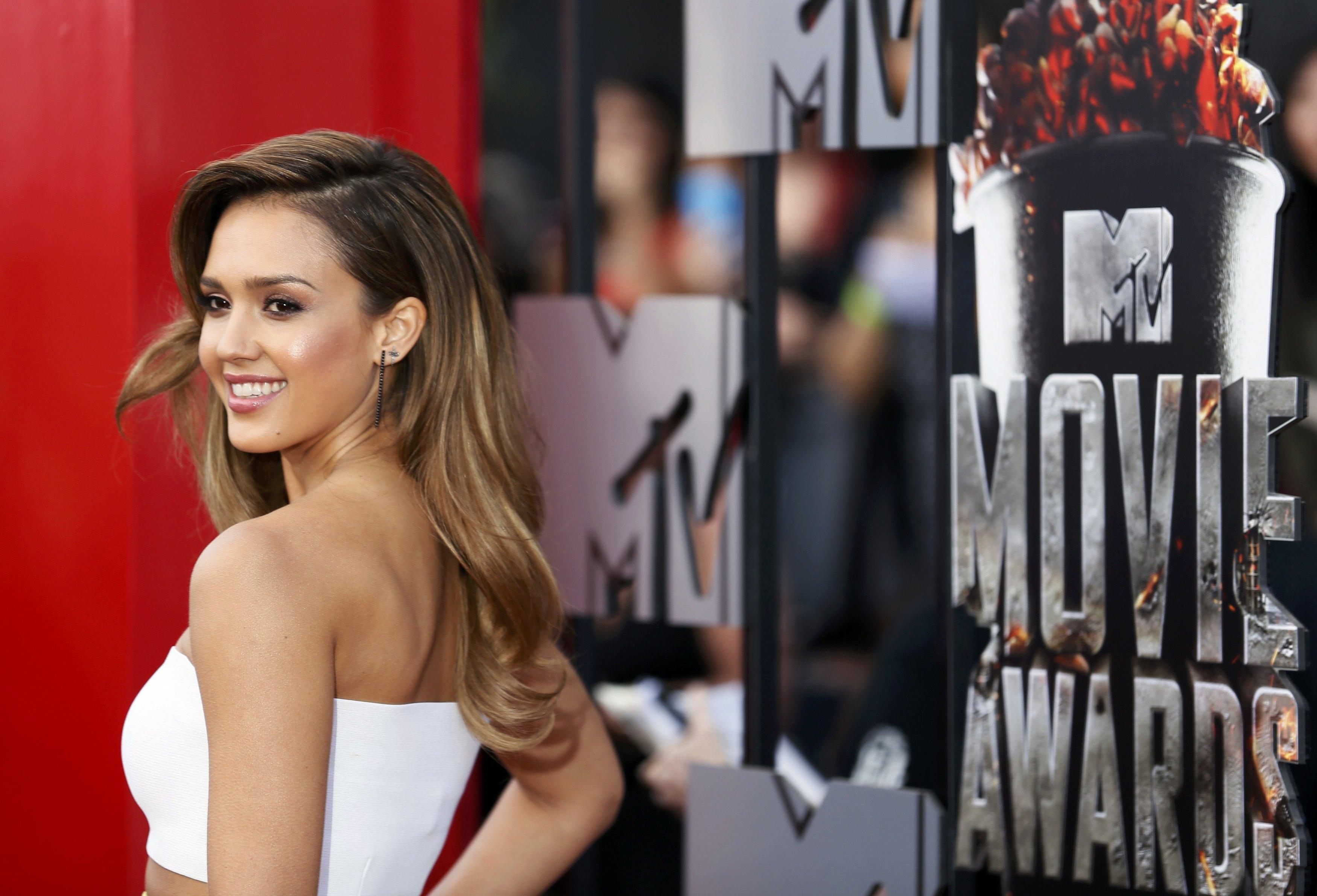 Jessica Alba no MTV Movie Awards em Los Angeles, nos Estados Unidos