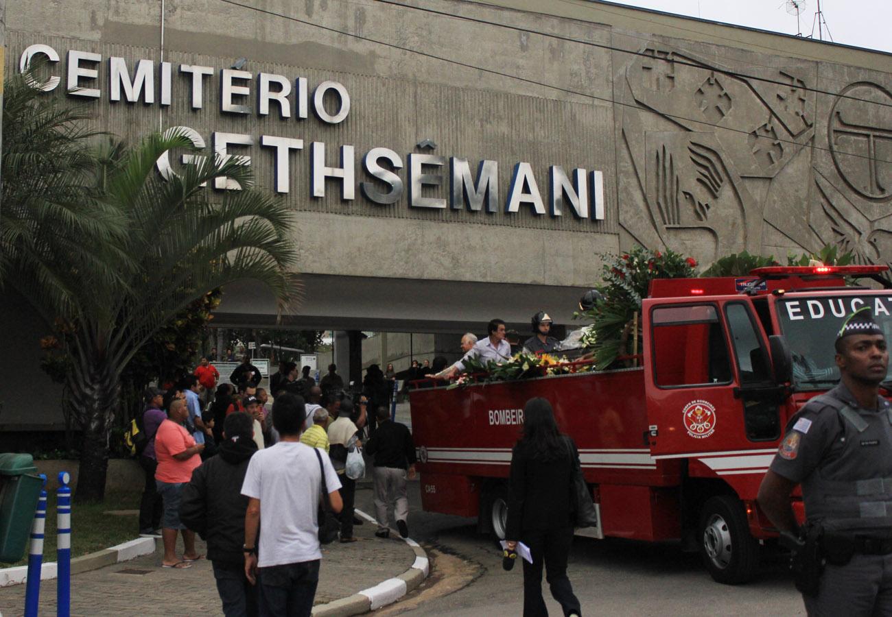 O enterro de Jair Rodrigues aconteceu na manhã de terça, 9 de maio, no cemitério Gethsemani, em São Paulo