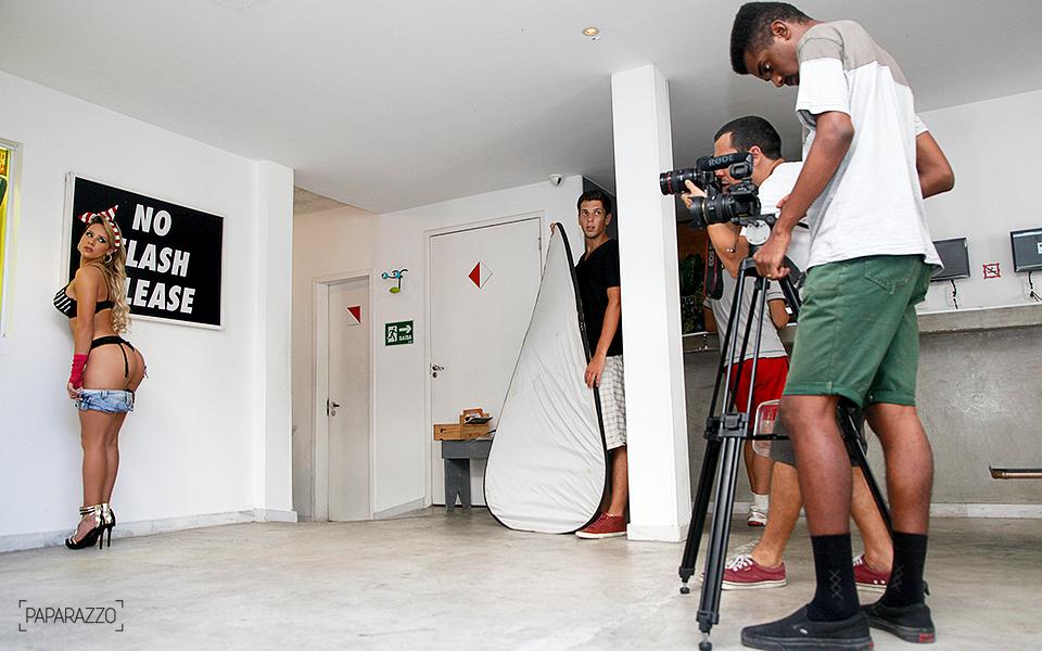 Babi Muniz e equipe do Paparazzo em ação
