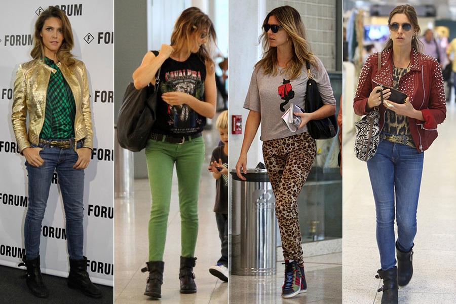 Fernanda Lima mostra que dá para ter muito estilo e manter o conforto. A apresentadora adora combinar calça skinny com botas e tênis de cano alto