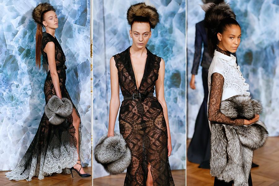 O desfile de Alexis Mabille na semana de moda de alta costura em Paris, nesta segunda-feira, 7