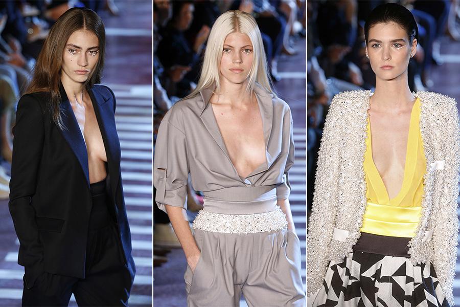 Alexandre Vauthier usou decotes profundos na semana de moda de alta costura de Paris