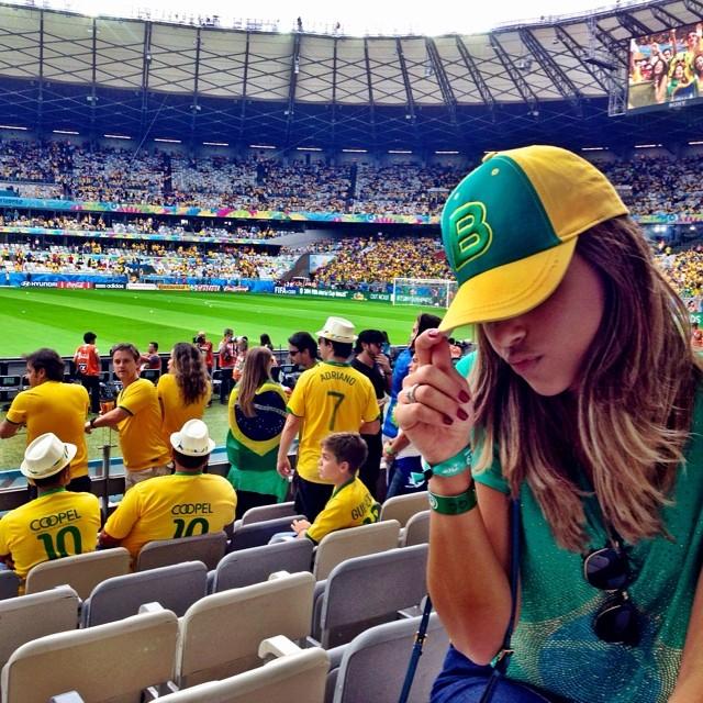 Mariana Rios foi ao Mineirão ver o jogo