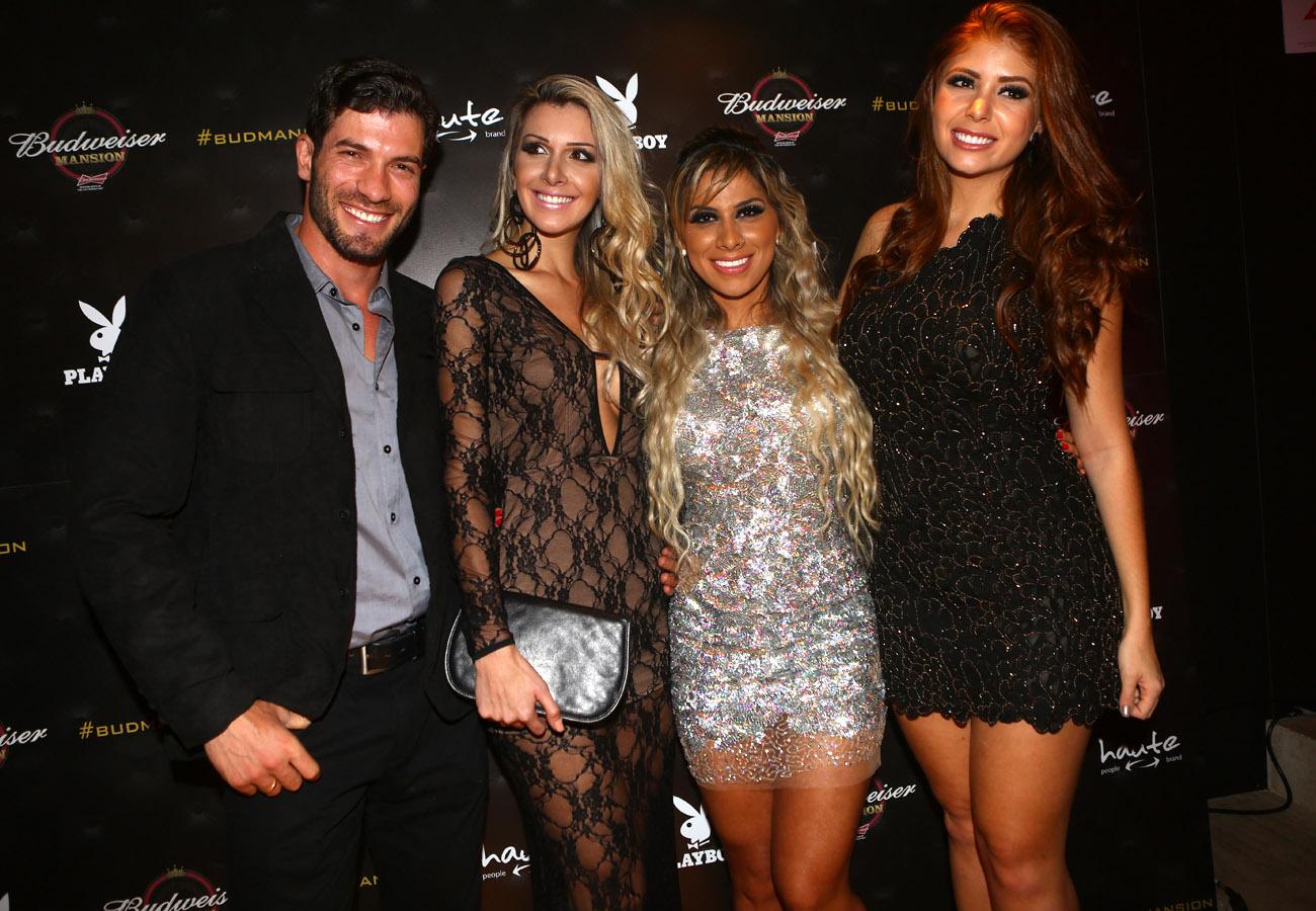 Ex-BBBs Roni, Tatiele, Vanessa e Amanda em festa em São Paulo