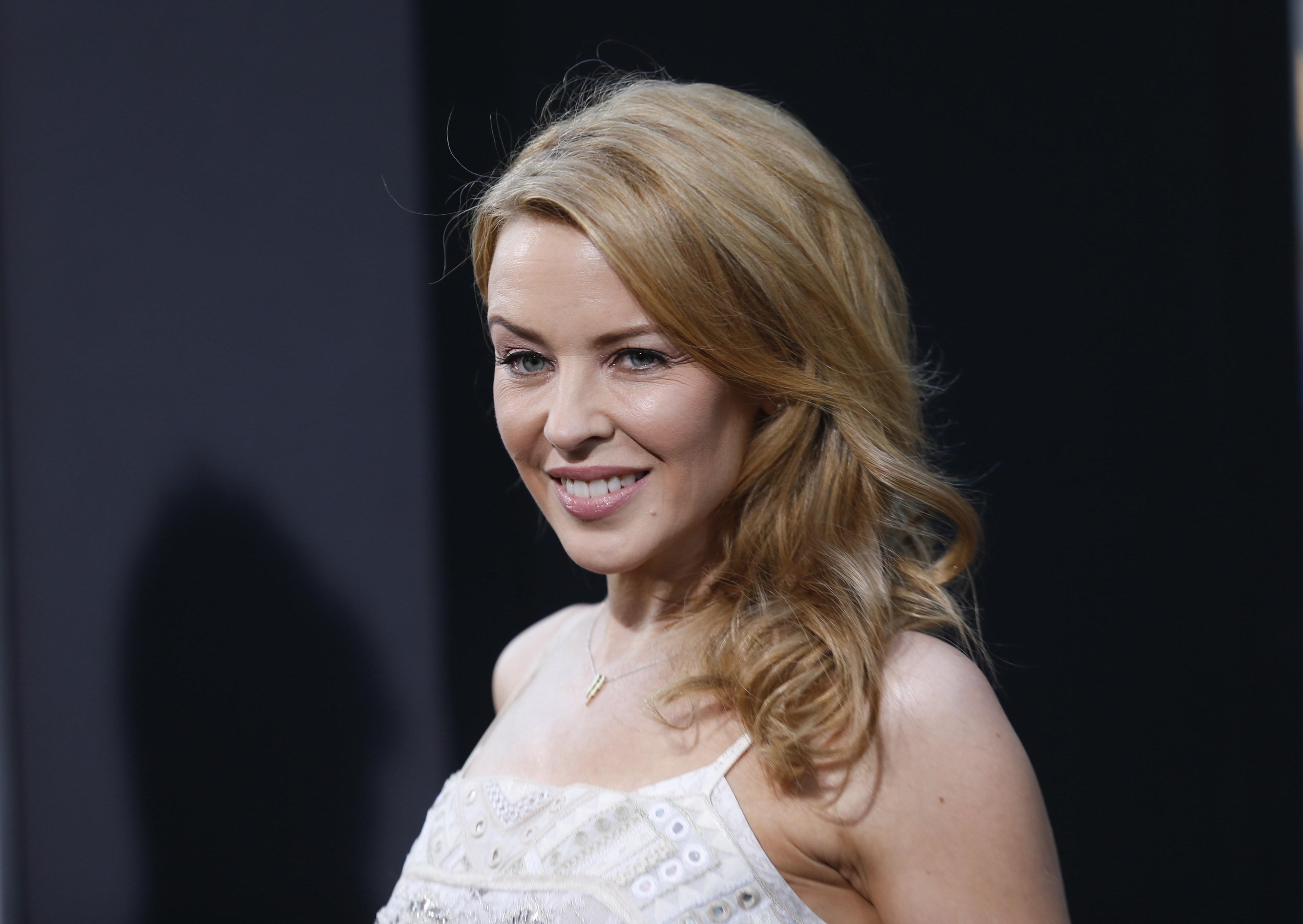 Kylie Minogue em première em Los Angeles, nos Estados Unidos