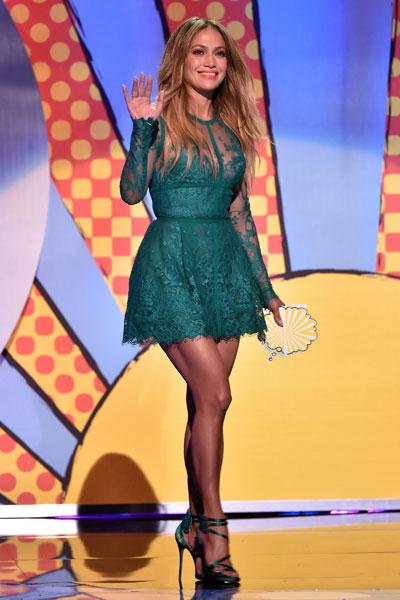 Jennifer Lopez em premiação em Los Angeles, nos Estados Unidos