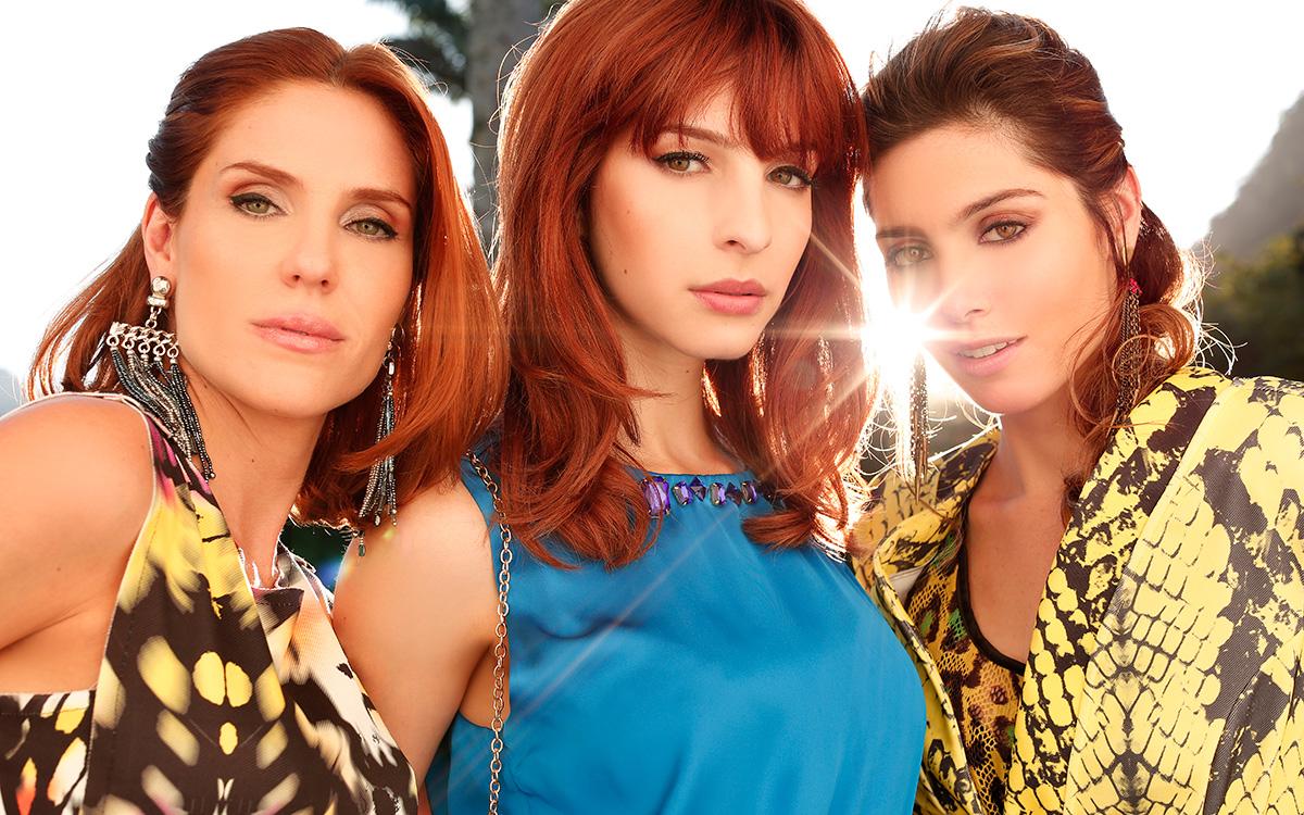 Rafaela Mandelli, Michelle Batista e Juliana Schalch posaram para o EGO na Villa Riso, na Zona Sul do Rio