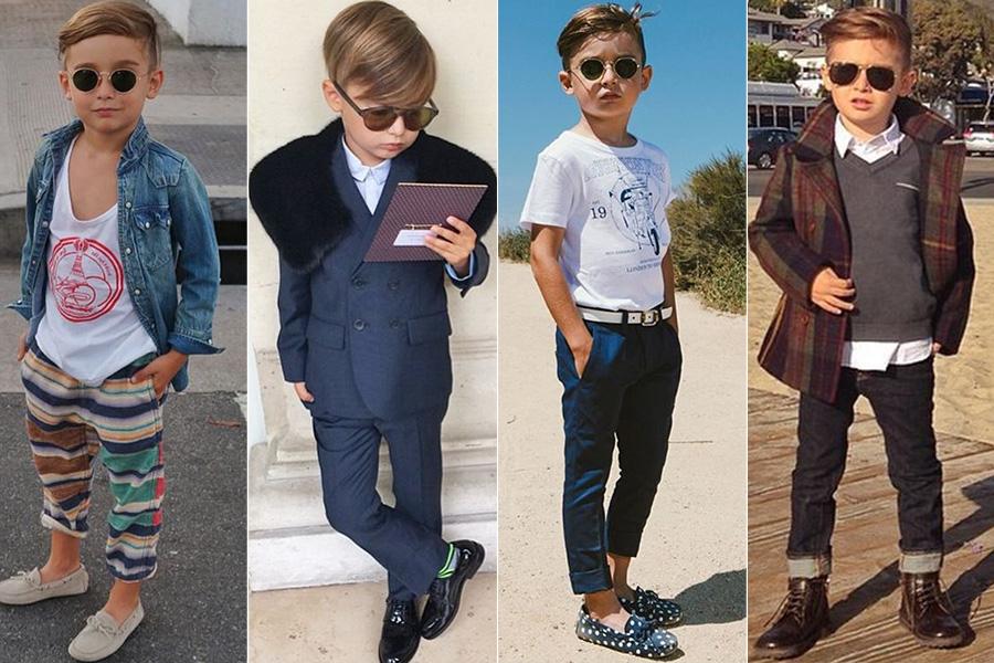 Um dos mais famosos no Instagram, o pequeno Alonso Mateo, de 5 anos, tem uma lista extensa de grifes caras no armário e os looks são todos registrados pela mãe, a stylist espanhola Luisa Fernanda Espinoza