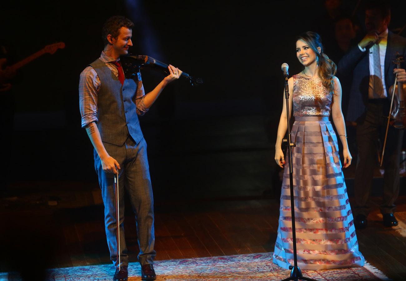 Sandy e Lucas Lima em show em São Paulo