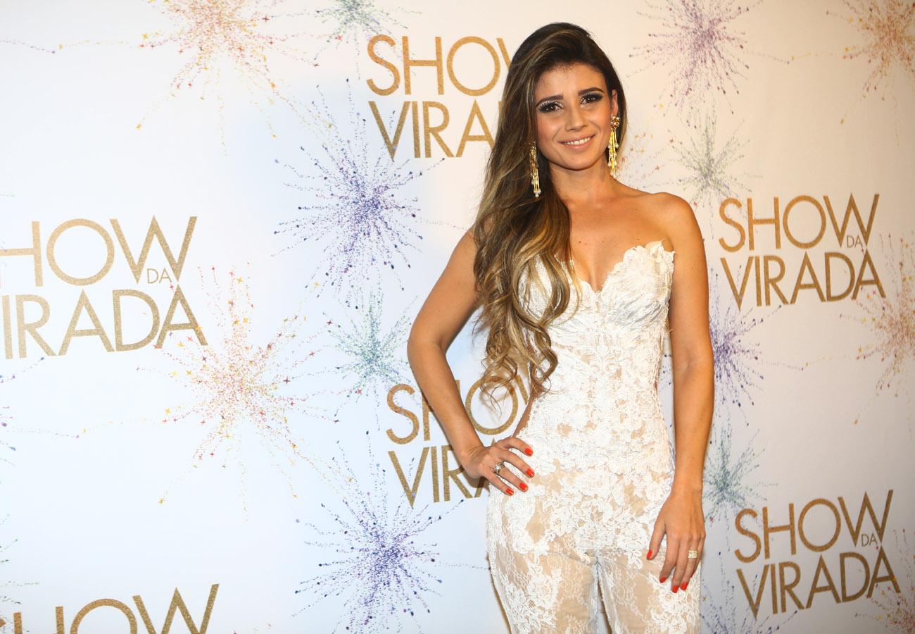 Paula Fernandes na gravação do Show da Virada em São Paulo