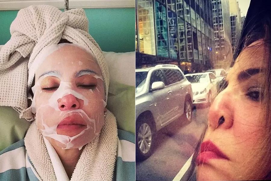 Como é complicada a vida da Luciana Gimenez: quando não está fazendo tratamento estéticos, ela se entedia com o trânsito de Nova York! Tadinha...