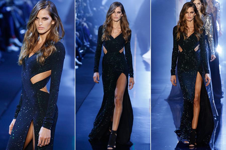 Izabel Goulart desfilou para o estilista francês Alexandre Vauthier, nesta terça-feira, 27, na semana de alta-costura em Paris