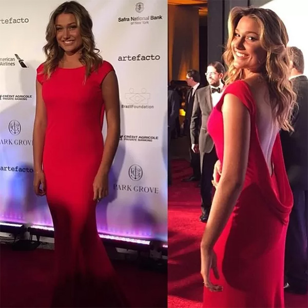 Sasha arrasa no tapete vermelho do evento beneficente Brazil Gala Foundation, em Miami, no dia 31