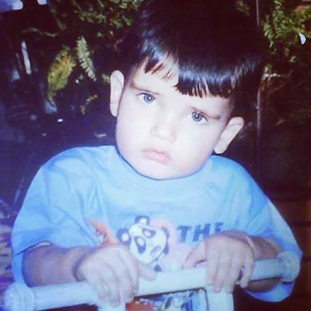 Celso Santebanes nasceu em Araxá, no interior de Minas Gerais. Nesta imagem, o modelo tem 5 anos.