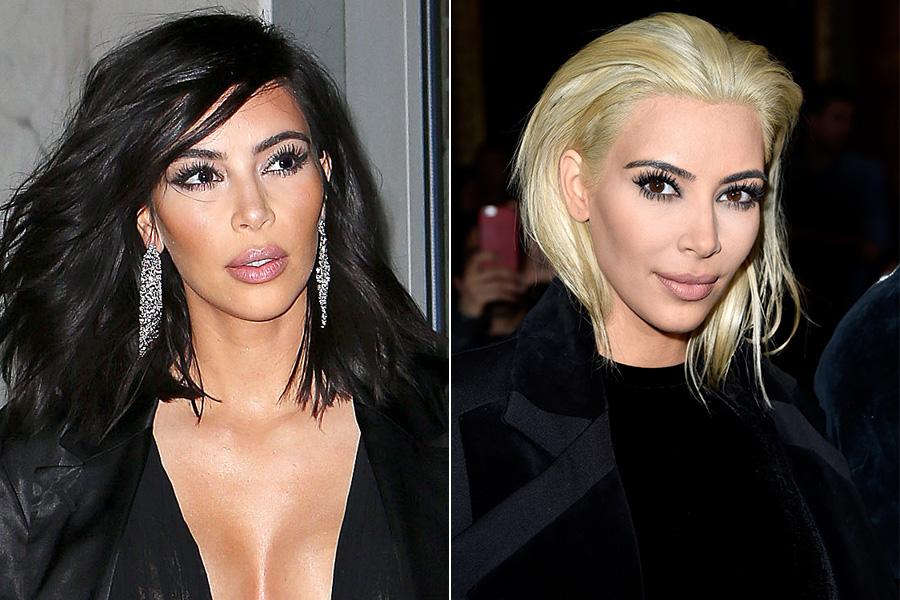 Kim Kardashian surpreendeu todo mundo ao aparecer com cabelos platinados na quinta-feira, 5, na semana de moda de Paris. A socialite fez sua estreia com o visual no desfile da Balmain, ao qual assistiu com o marido, o rapper Kanye West