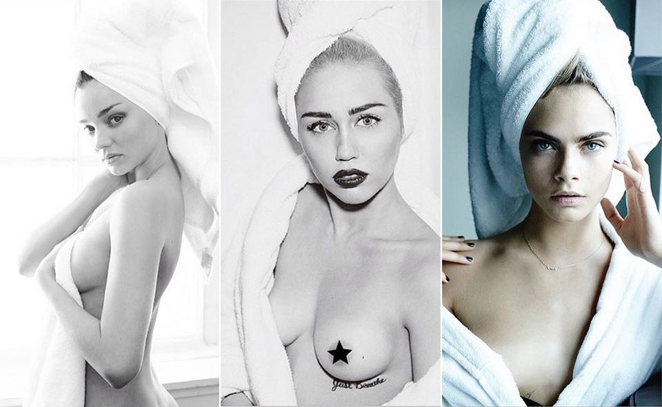 Miranda Kerr, Miley Cyrus e Cara Delevingne