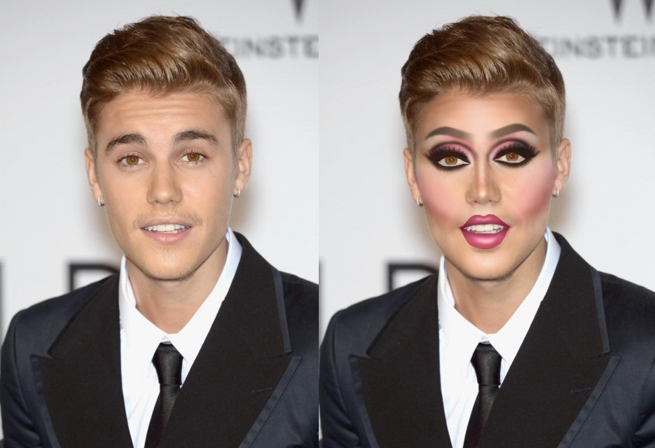 Justin Bieber foi um dos artistas que entrou na brincadeira do blogueiro. Christopher McParlan modificou no Photoshop 13 artistas famosos e divertiu o público