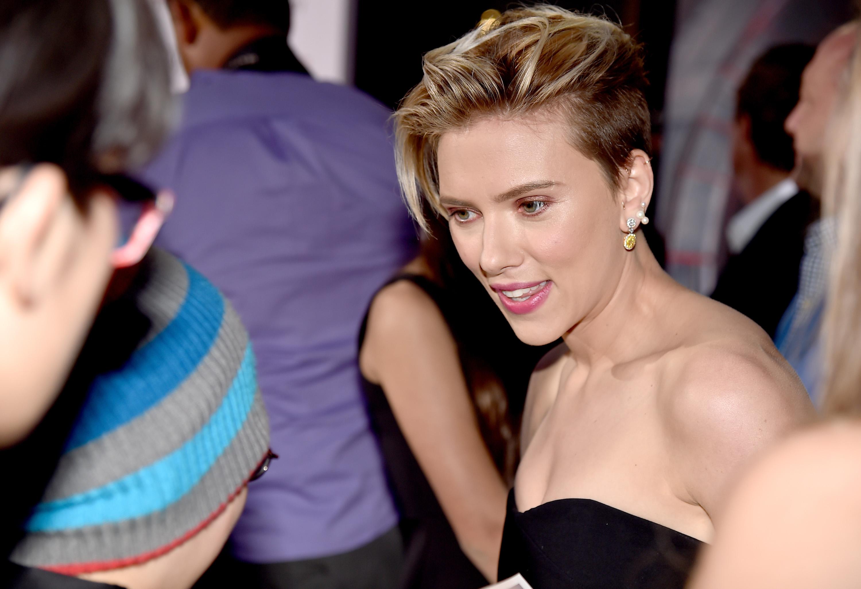Scarlett Johansson em première em Los Angeles, nos Estados Unidos