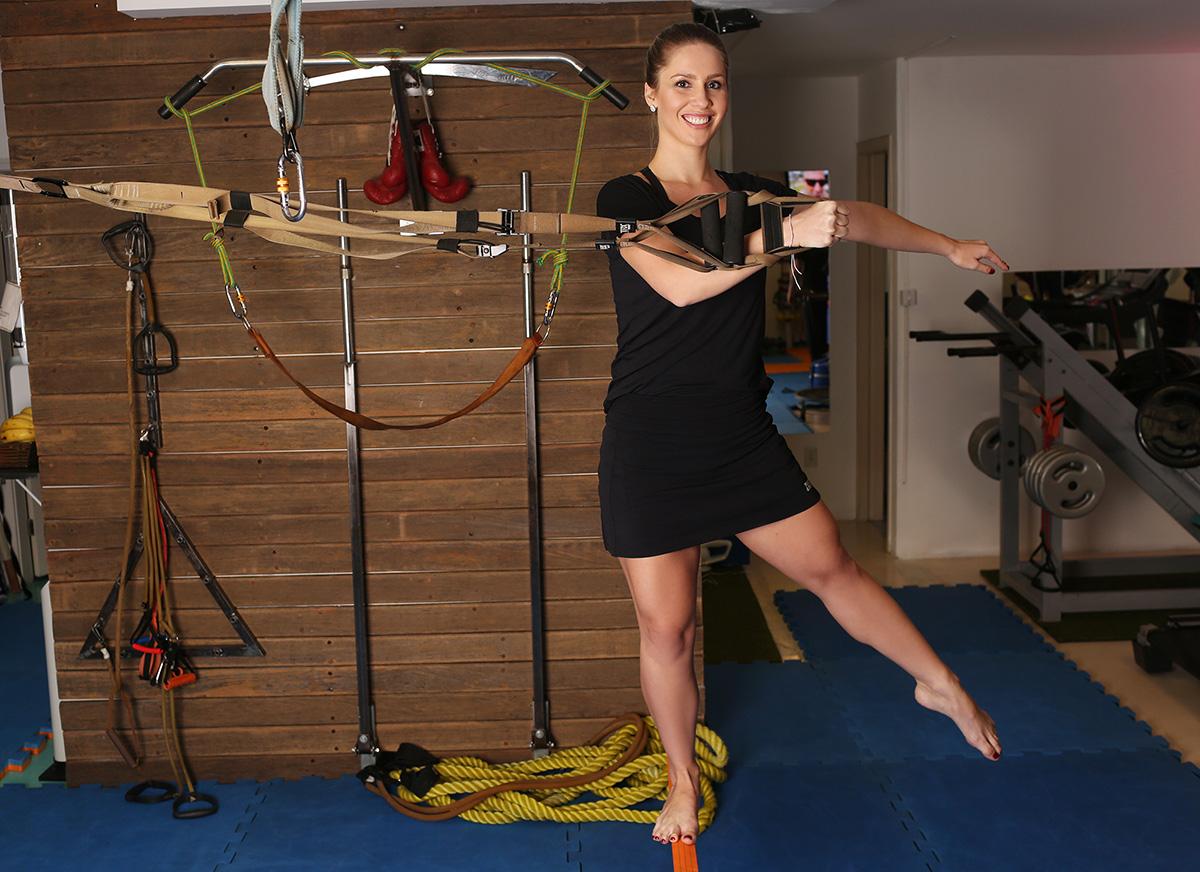 Ana Carolina Madeira encara mistura de várias modalidades no Método Pisano para ficar com o corpo em forma