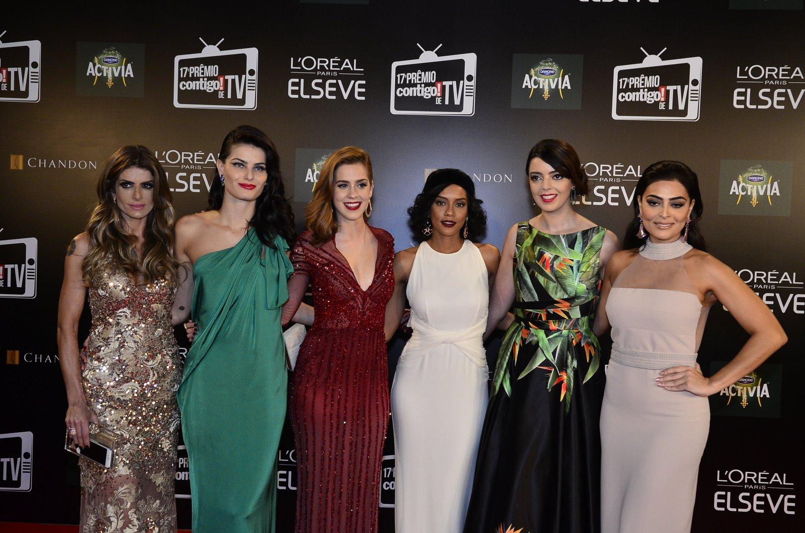 Carol Magalhães, Isabeli Fontana, Sophia Abrahão, Taís Araújo, Lia Camargo e Juliana Paes