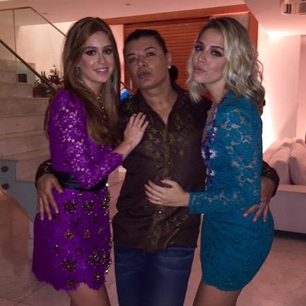rDavid Brazil com Marina Ruy Barbosa e Luma Costa