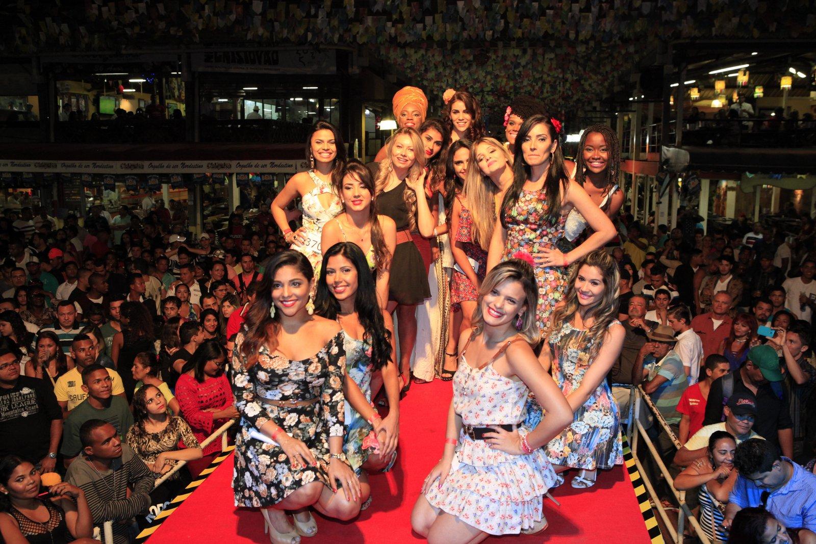 Candidatas semifinalistas do concurso Beleza Nordestina 2015