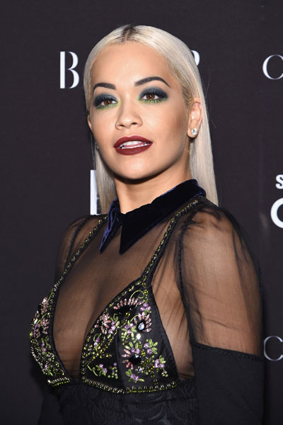 Rita Ora em festa em Nova York, nos Estados Unidos