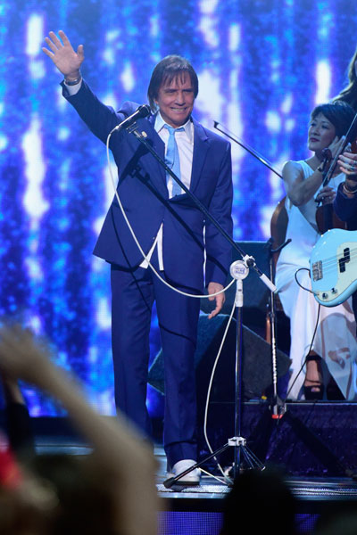 Roberto Carlos em prêmio de música em Las Vegas, nos Estados Unidos