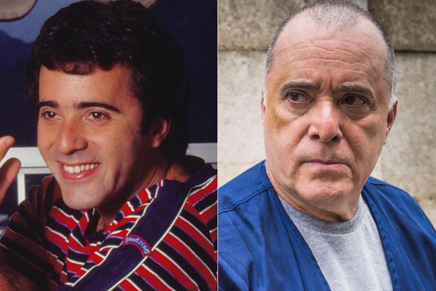Antes e depois de Tony Ramos: ele interpretava os gêmeos Quizinho e João, separados na maternidade