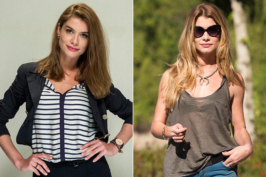 Alinne Moraes deixou o cabelo crescer e clareou as pontas para viver a empresária Diana