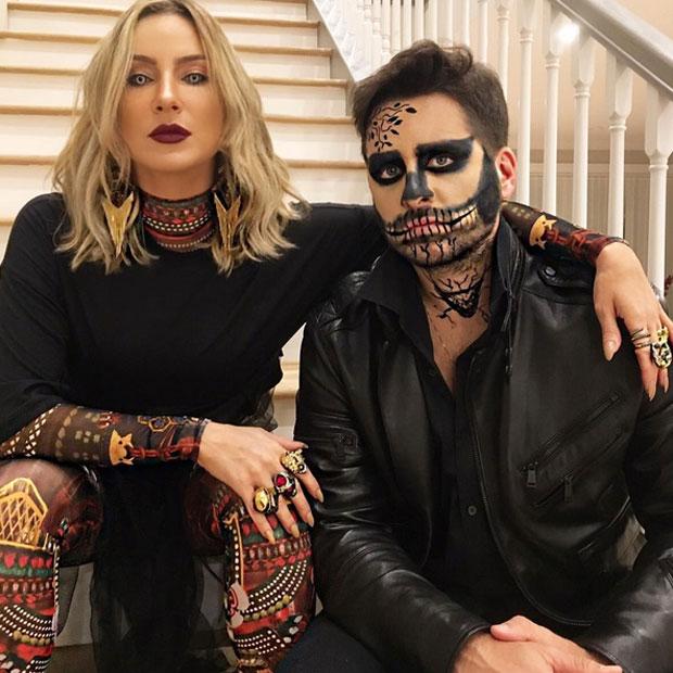 Claudia Leitte e o marido, Márcio Pedreira, se fantasiam para o Halloween