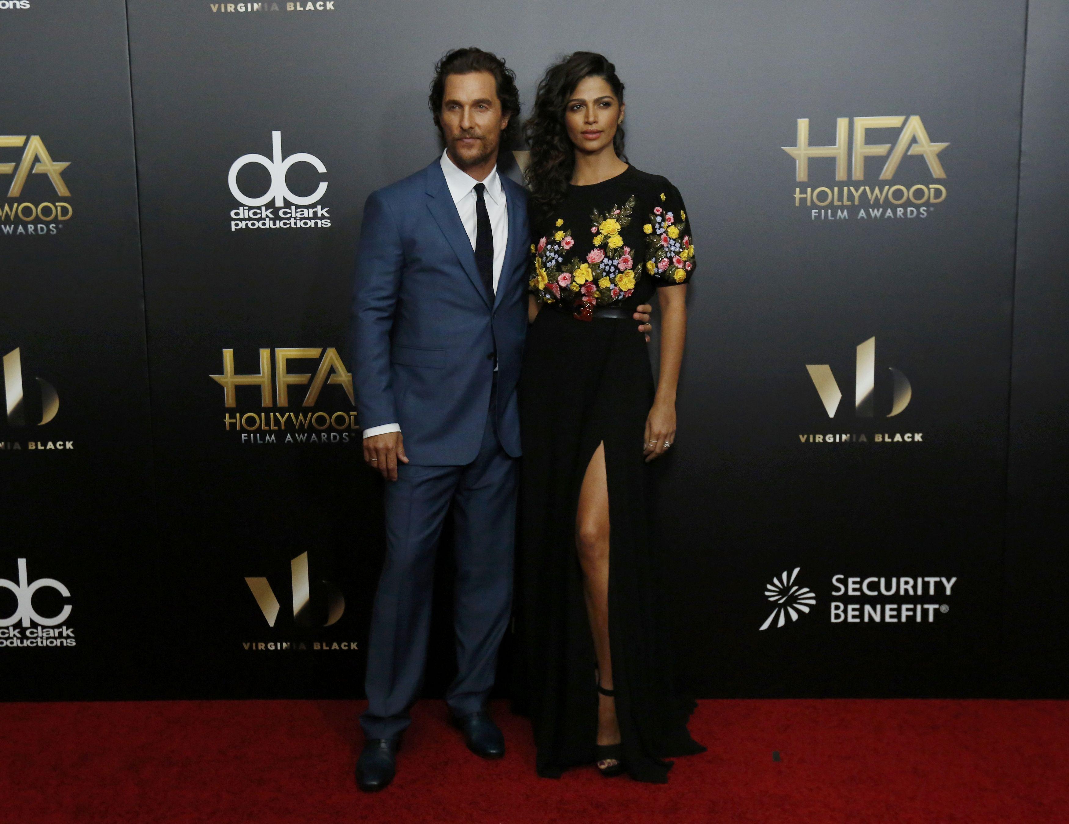 Matthew McConaughey e Camila Alves em prêmio de cinema em Los Angeles, nos Estados Unidos