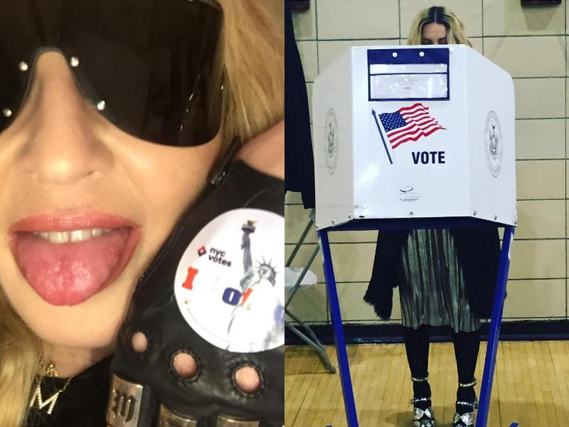 Madonna deu show de esitlo na votação