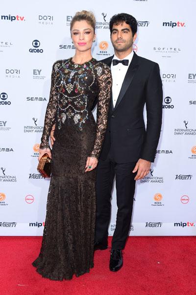 Grazi Massafera e o namorado, Patrick Bulus, em prêmio em Nova York, nos Estados Unidos