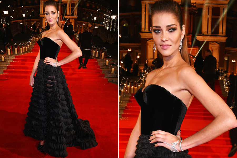 Ana Beatriz Barros no tapete vermelho do British Fashion Awards 2016
