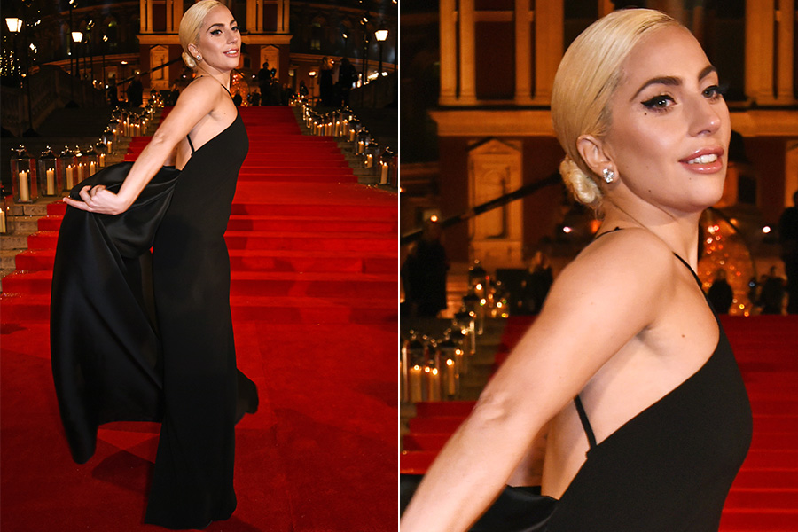 Lady gaga no tapete vermelho do British Fashion Awards 2016